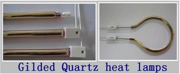 Gilded quartz heating lamps
